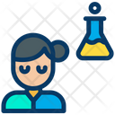 Chemistry Student Girl Icon