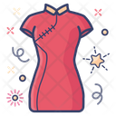 Cheongsam Dress Attire Icon