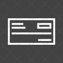 Cheque Payment Cash Icon
