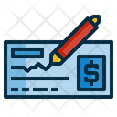 Bank Cheque Payment Icon