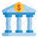 Bank Building Money Icon
