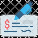 Cheque Bank Checkbook Icon