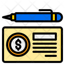 Cheque Payment Banking Icon