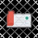 Cheque Pay Bitcoin Icon