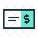Bank Check Finance Icon