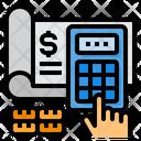 Cheque Calculator Hand Icon
