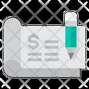 Cheque Sign Pen Icon
