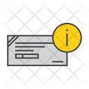 Cheque Info Banking Icon