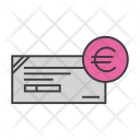 Cheque Euro Banking Icon