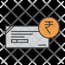 Cheque Rupee Banking Icon
