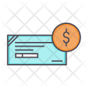 Cheque Dollar Banking Icon