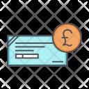 Cheque Pound Banking Icon