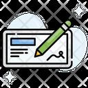 Cheque Book Icon