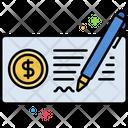 Cheque Deposit Cheque Deposit Bank Cheque Icon