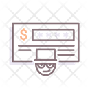 Cheque Fraud Cheque Fraud Icon