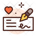 Cheque Shign Signing Check Icon