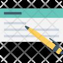 Cheque Signature Voucher Icon