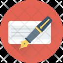 Cheque Signature Icon