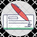 Cheque Signing Voucher Icon