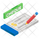 Bank Cheque Cheque Writer Check Book Icon