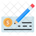Cheque Writing Checkbook Check Signing Icon