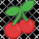 Cherries Berries Fruit Icon