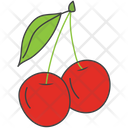 Berries Cherries Fruit Icon