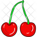 Cherries Cranberries Healthy Fruit Icon
