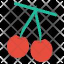 Cherries Fruit Vegetable Icon