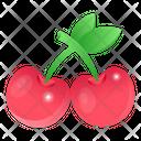 Fruits Cherries Berries Icon