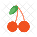 Cherries Sweet Fruit Icon