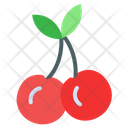 Red Cherry Fruit Healthy Food Icon