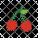 Cherry Red Cherry Fruit Icon