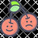 Cherry Fruit Happy Icon