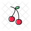Cherry Fruit Healthy Icon