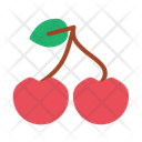 Cherry Dessert Food Icon