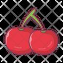 Cherry Fruit Food Icon