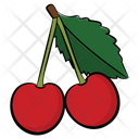Cherry Fruit Healthy Food Icon