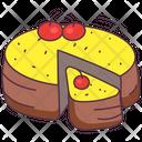 Cherry Cake Cake Sweet Icon