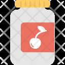 Cherry Jam Bottle Icon
