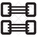 Chest Expander Standpulling Gym Equipment Icon