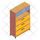 Chest Of Drawers Filing Cabinet Cabinet Icon