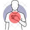 Chest Pain Body Pain Chest Disease Icon