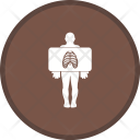 X Ray Chest Standing Icon