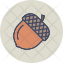 Chestnut Acorn Oak Icon