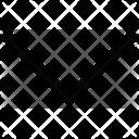 Half Arrow Down Icon