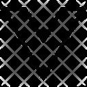 Chevron Down Stripe Sleeve Icon