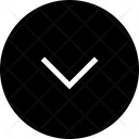 Half Arrow Down Circle Icon
