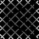 Chevron Left Stripe Sleeve Icon