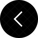 Half Arrow Left Circle Icon